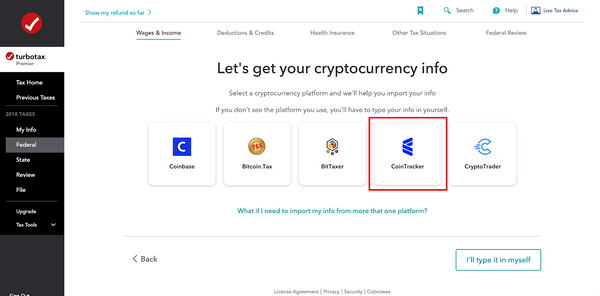 CoinTracker has partnered with Coinbase and TurboTax